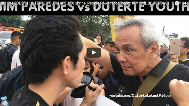 Witness How Jim Paredes Confronts Duterte Youth Supporters