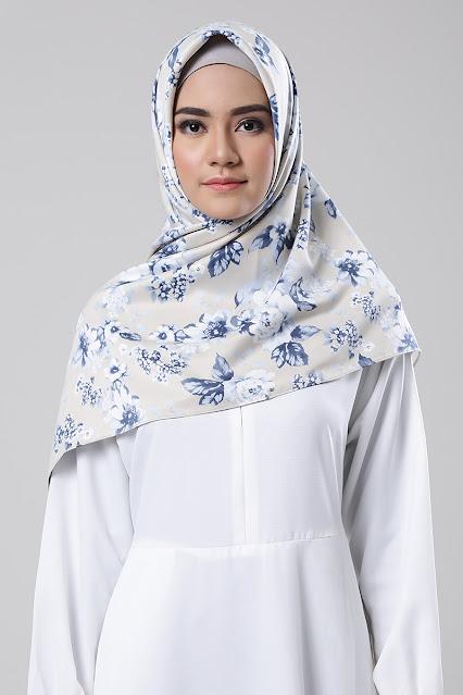 Hijab floral motif.