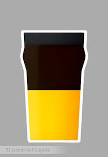 Cóctel con cerveza: Black and Tan