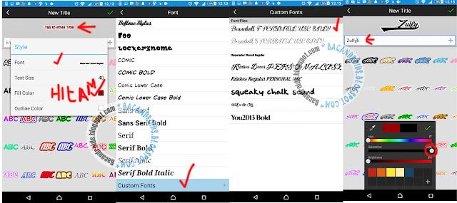 Membuat logo Nama di Android Desain editing foto