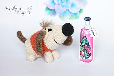 бесплатное описание, вязаная игрушка, описание, мастер-класс, собака, собачка, символ года, символ 2018, описание крючком