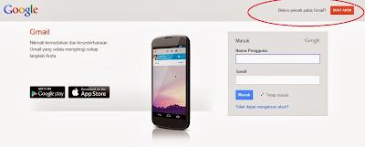 Halaman Login Gmail