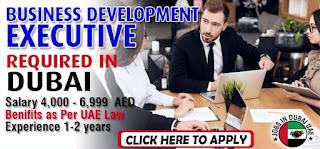 Business Development Executive Job Recruitment For Hotels and Restaurants in Dubai