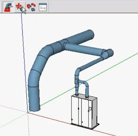 How to design 3d Piping with SketchUp and 3skeng plugins