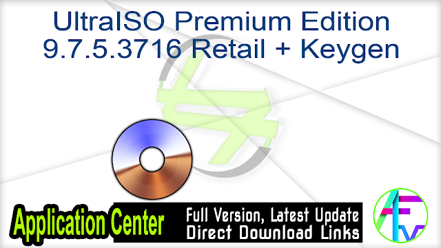 UltraISO Premium Edition 9.7.5.3716 Retail + Keygen
