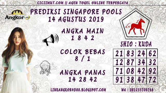 PREDIKSI SINGAPORE POOLS 14 AGUSTUS 2019