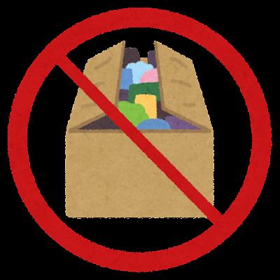 フタの閉じた箱のマーク