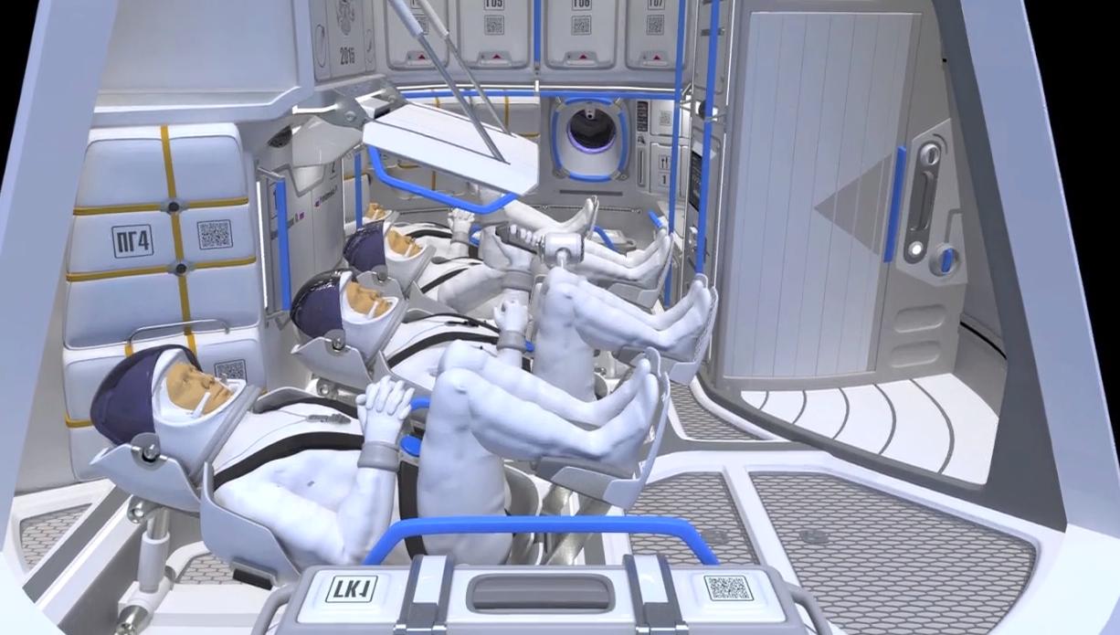 Interior De Ventana De Nave Espacial: El Interior De La Nueva Nave Espacial Rusa PTK-NP