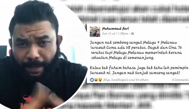 """Video: """"Orang Sarawak jangan biadap dengan orang Semenanjung. Melayu Melanau memerintah kerana kekuatan Melayu di Semenanjung"""" - Papa Gomo"""