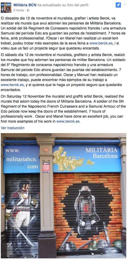 Militaria Barcelona facebook