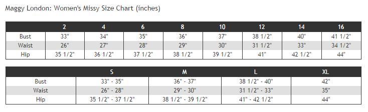 Maggy london size chart also my charts rh mysizechartsspot