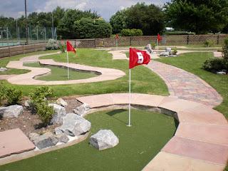 Minigolf course at Hermitage Recreation Ground in Coalville