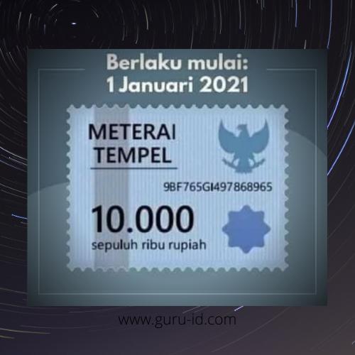 gambar materai 10000 terbaru 2021