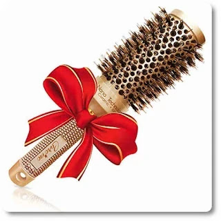 Blow out Round HairBrush with Natural Boar Bristles for Blow Drying by Care me