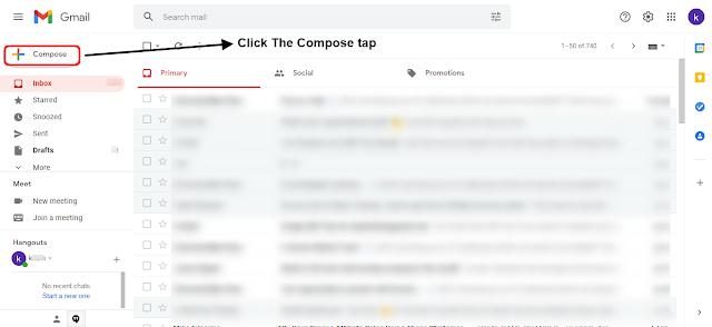 Step #3 अब आप Compose tap पर Click करे