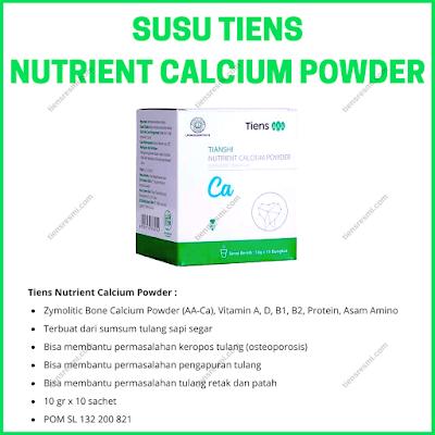susu tulang lansia terbaik tiens, nutrient   calcium powder