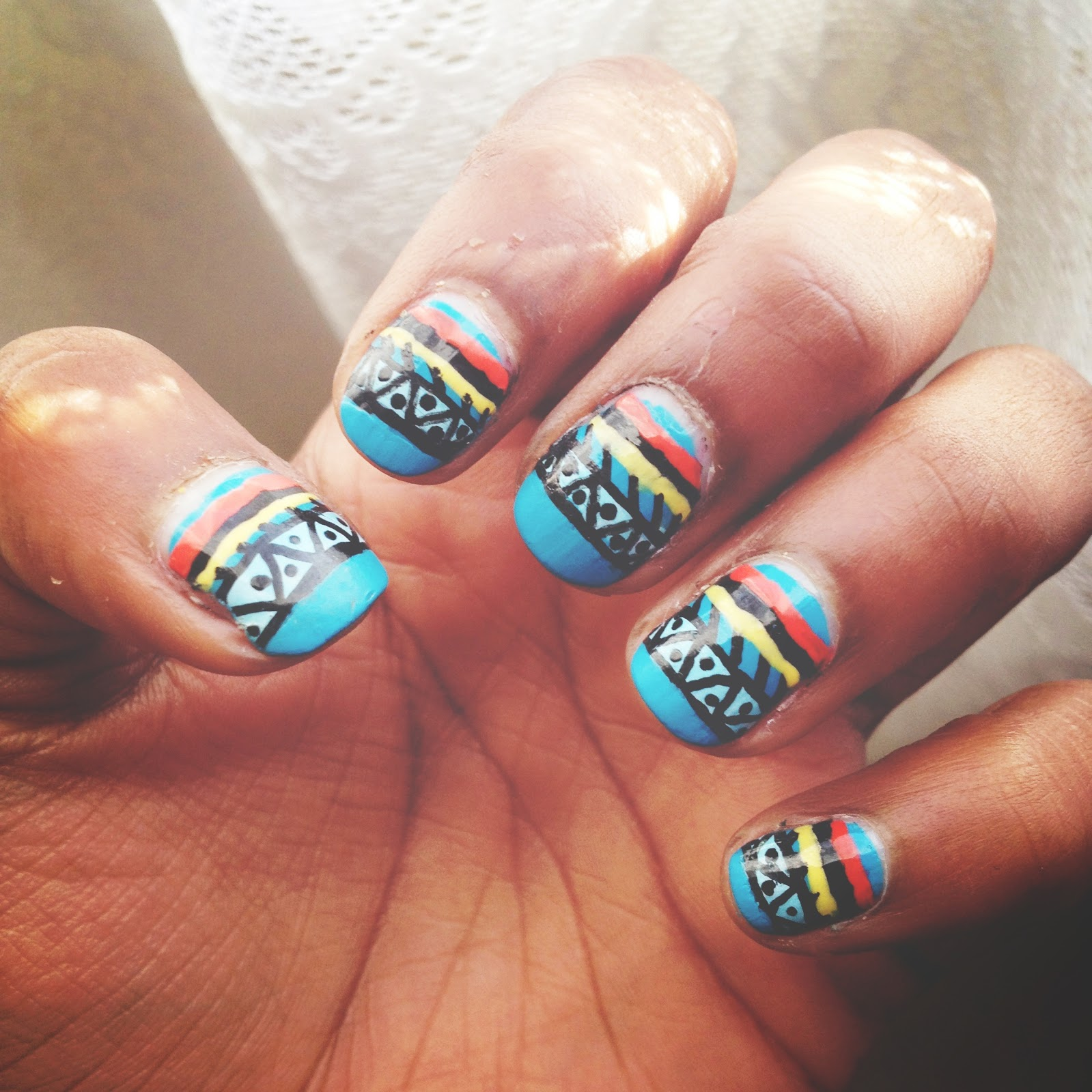 Nail Art Designs With Lines