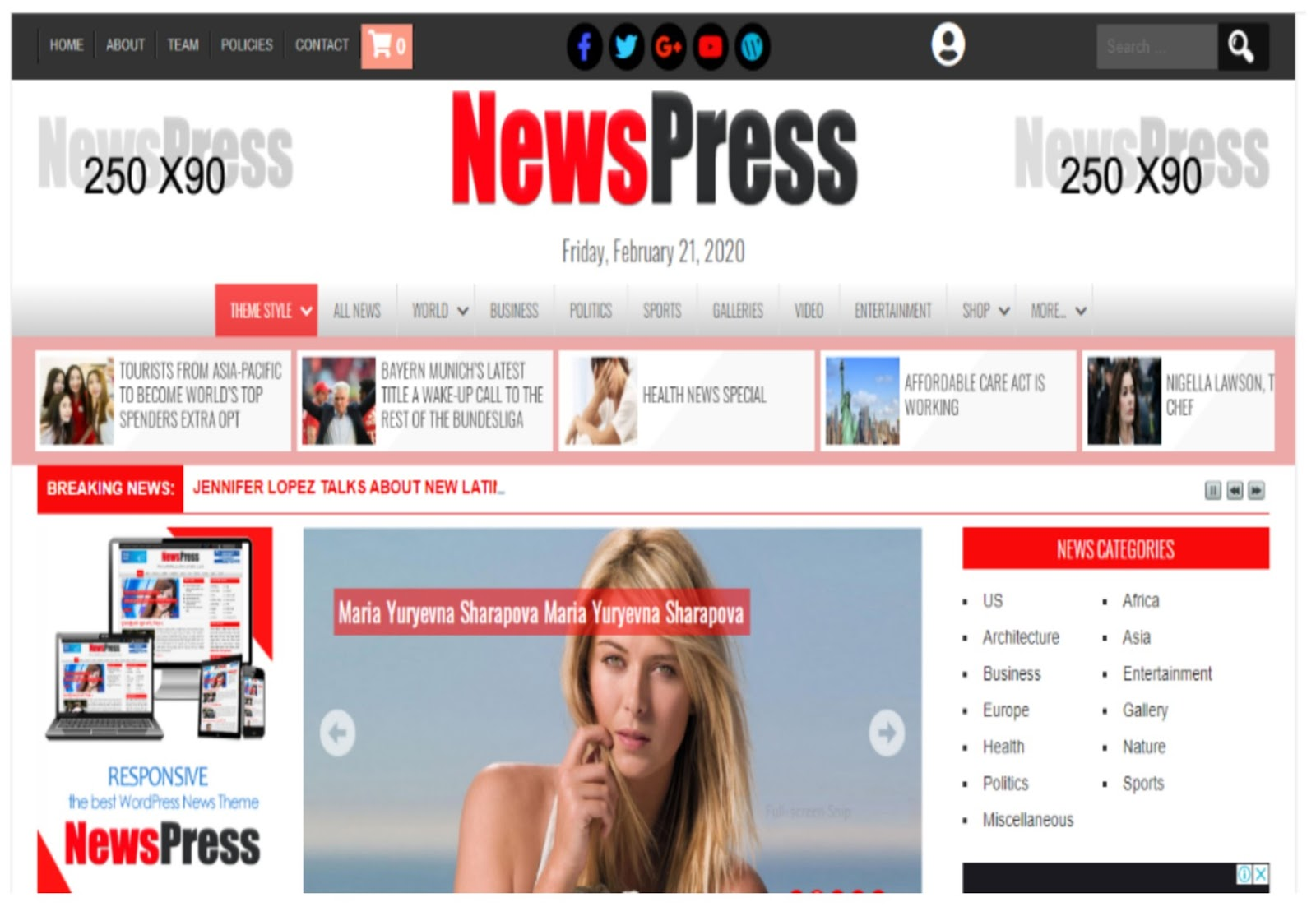 NewsPress Lite WordPress Theme