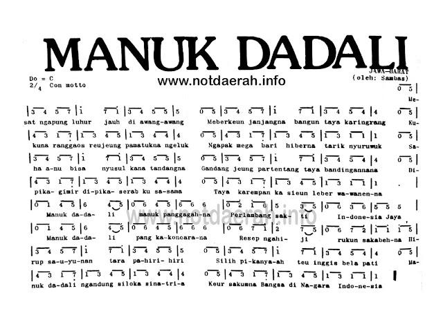 Not Angka Manuk Dadali