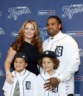 Prince Fielder With His Wife And Sons