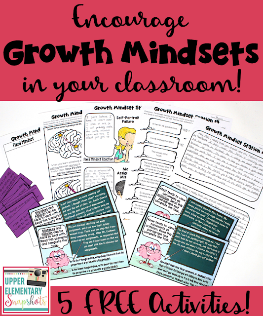 Foster growth mindsets within your students this year with these five FREE learning centers. Teachers choose whether they want to use the printable forms or the digital versions that utilize Google Slides.