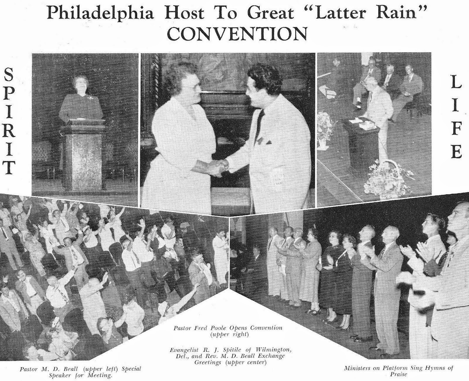 Latter Rain convention in Philadelphia, Pennsylvania (1951)