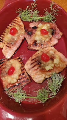 Grilled Ham Steaks with Pineapple