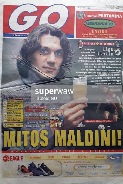TABLOID GEMA OLAHRAGA 2000 PAOLO MALDINI