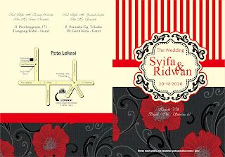 Download Desain Undangan Keren Merah Free .CDR