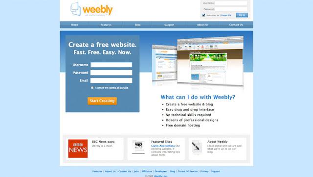 Weebly là người tiên phong xây dựng các web bán hàng dựa trên HTML5