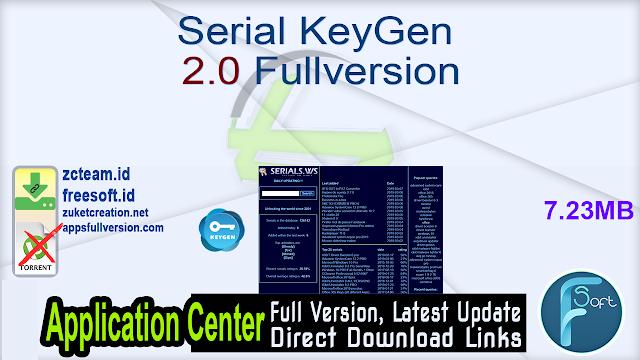 Serial KeyGen 2.0 Fullversion