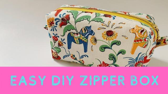 Easy DIY Zipper Box