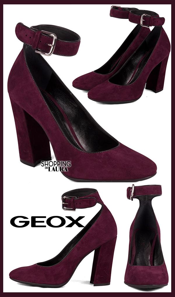 Chaussures à talons et à brides bordeaux GEOX