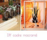 DIY cadre macramé