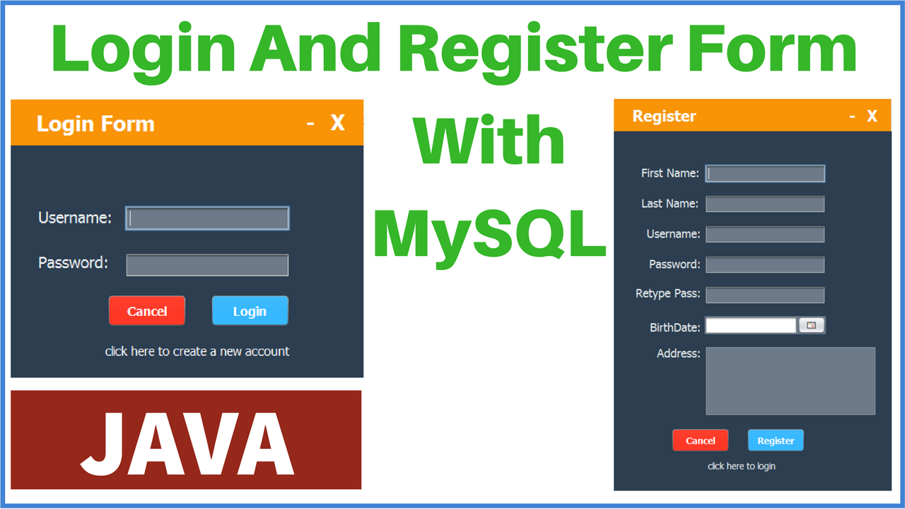 registration and login form in php and mysql