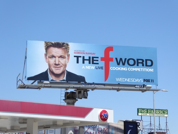 F Word series premiere billboard