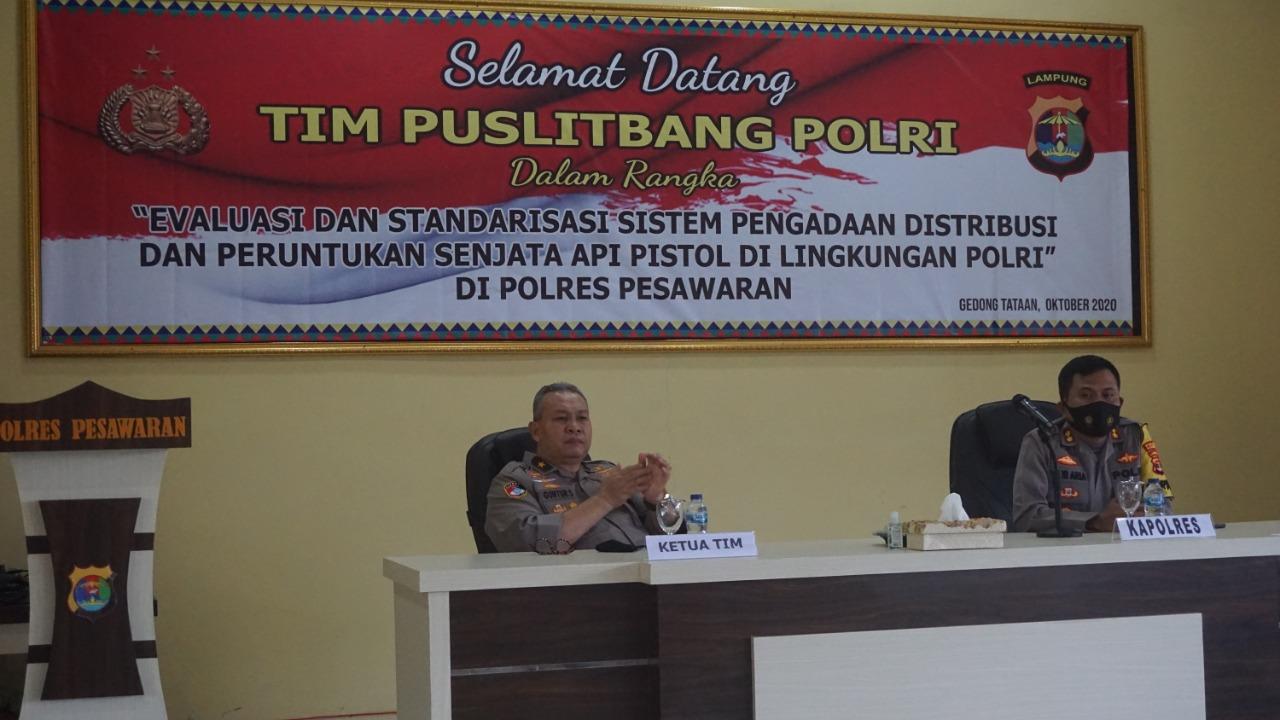 Tim Puslitbang Polri melaksanakan penelitian dilingkungan Polri di Polda Lampung