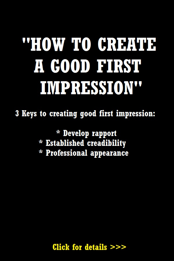 How to create a good first impression