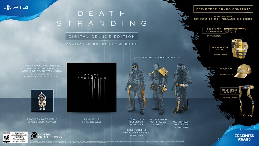 death stranding digital deluxe edition ps4 exclusive kojima productions