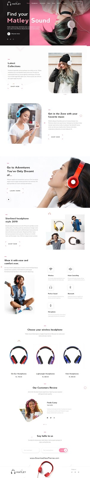 Best Headphone & Electronics Store Theme