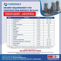 Construction Project Job Vacancies in UAE