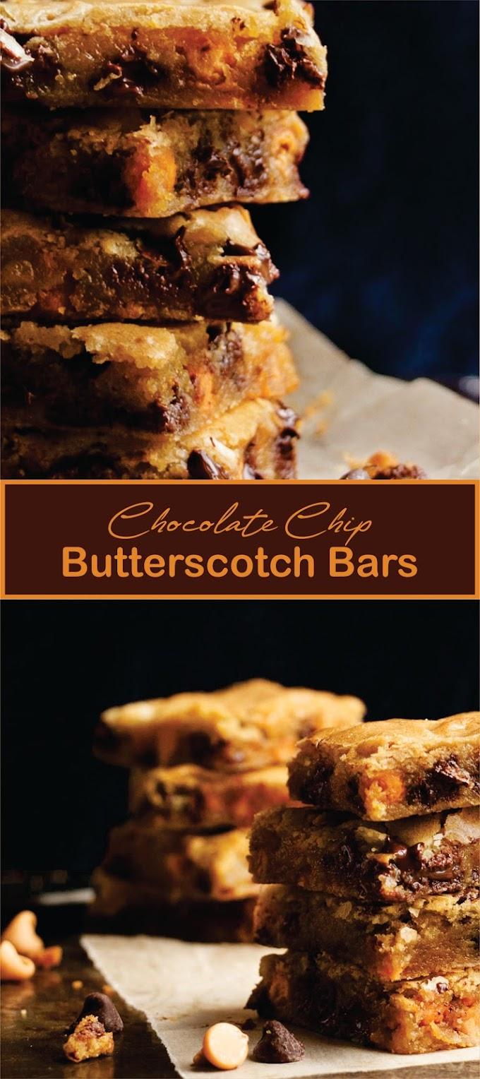 Chocolate Chip Butterscotch Bars