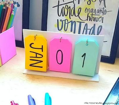 diy calendario de mesa