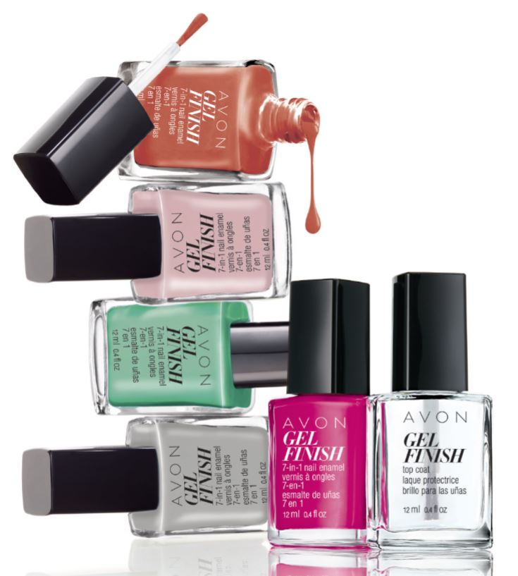Avon Gel Finish 7 In 1 Nail Enamel With Swatches