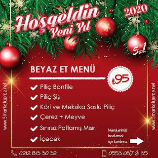 5 Marka 1 Yerde İstanbul Yılbaşı Programı 2020 Menüsü