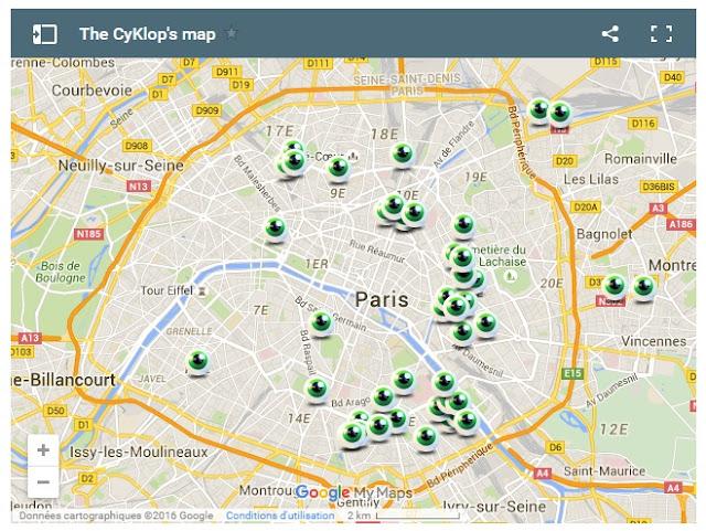 mapa prac Le Cyklop