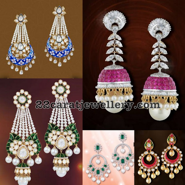 Meena Work Earrings by Shobha Asar