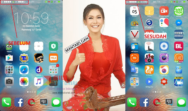 Sedang Pakai Tema iOS iPhone di Xiaomi tapi Aneh Ada 2 Indikator Sinyal? Ini Tutorial Cara Menyembuyikannya