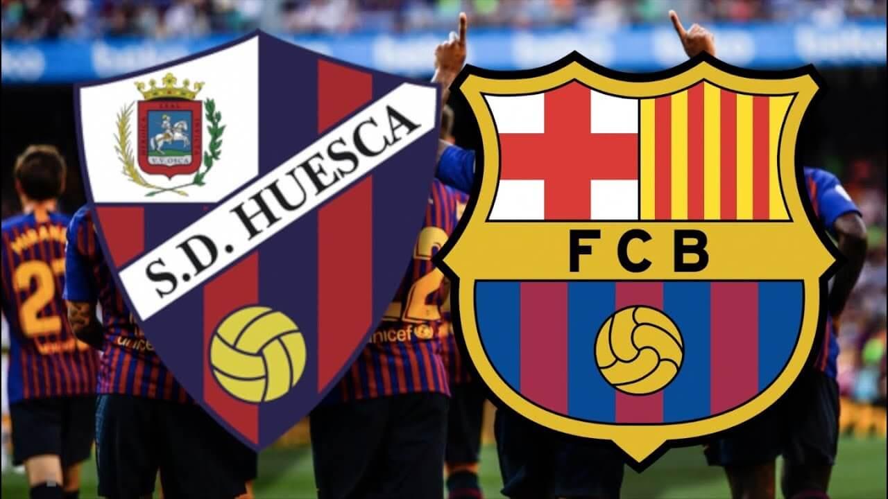 مشاهدة مباراة برشلونة ضد هويسكا 3-1-2021 بث مباشر في الدوري الاسباني