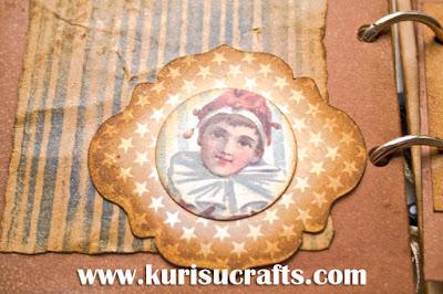 Taller álbum vintage en Kurisu Crafts